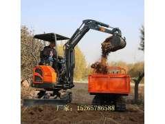 农用履带挖掘机 林场植树挖坑机 微型柴油挖土机